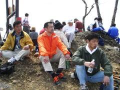 山頂での昼食休憩